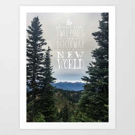 Between Two Pines Art Print