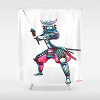 samurai Shower Curtains featuring Samurai by arnedayan