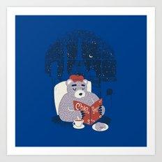 Parisian Bear Art Print