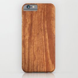 Wood Grain iPhone Case