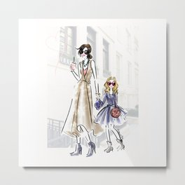 City fashion walk Metal Print