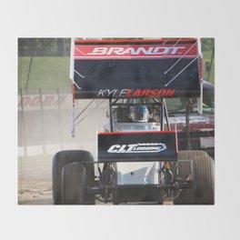 Kyle Larson motor heat Throw Blanket