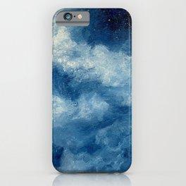 Deep Blue Cloud Painting iPhone Case