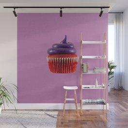 Cupcake Love   Royal Purple Velvet Wall Mural