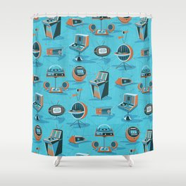SPACE AGE HIFI Shower Curtain