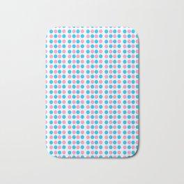 pink and blue polka dot-polka dot,pattern,dot,polka,circle,disc,point,abstract,minimalism Bath Mat