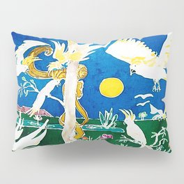 Nude surprised by Cockatoos                     by Kay Lipton Pillow Sham