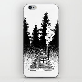 House in the woods iPhone Skin