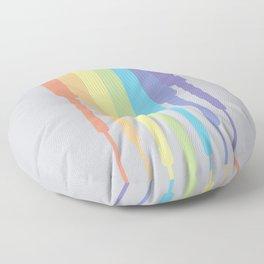 Rainbow descending (Pastel) Floor Pillow