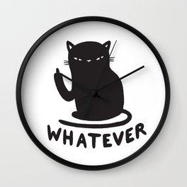 Whatever cat Wall Clock