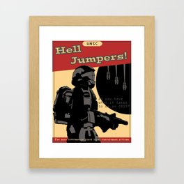 Hell Jumpers Framed Art Print
