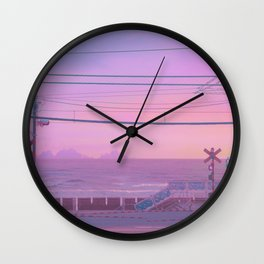 Peachy Morning Wall Clock