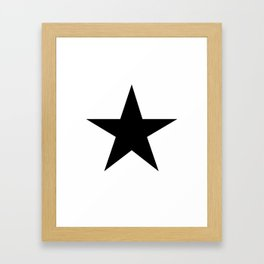 Black Star Framed Art Print
