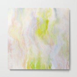 Pastel Lime Marble Metal Print