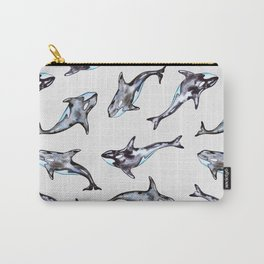 Watercolor killer whales Carry-All Pouch