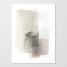 Beige and Brown Minimalist Abstract Painting Canvas Print