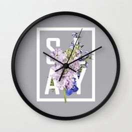cuz i slay Wall Clock