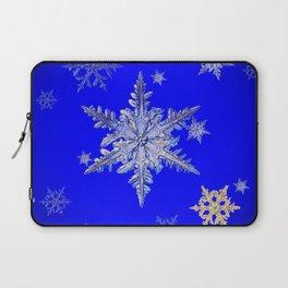 """MORE SNOW"" BLUE WINTER ART DESIGN Laptop Sleeve"