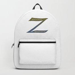 Celtic Knotwork Alphabet - Letter Z Backpack