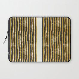 Zen Stripe Block Print Mustard Laptop Sleeve