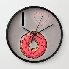 I love donut Wall Clock