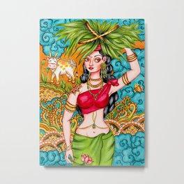 Indian tribal woman illustration Metal Print