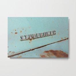 Blue Studebaker Metal Print