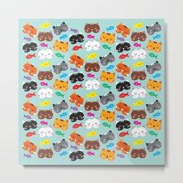 Cats Love Fish I Metal Print