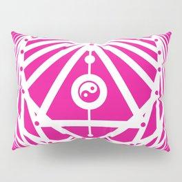 Radiant Abundance (hot pink-white) Pillow Sham