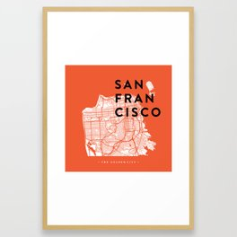 San Francisco Map 04 Framed Art Print