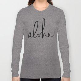 Aloha Hawaii Typography Long Sleeve T-shirt
