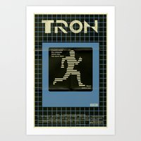 tron Art Prints featuring Tron by Mark Welser