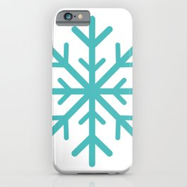 Snowflake (Teal & White) iPhone Case