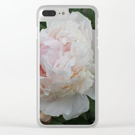 Romantic Peony Clear iPhone Case