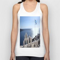 greece Tank Tops featuring Greece by Shine Like Sunbeams