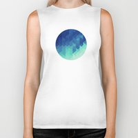 polygon Biker Tanks featuring Polygon Planet by Victor Velocity
