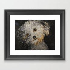 Because Dogs are Cute Framed Art Print
