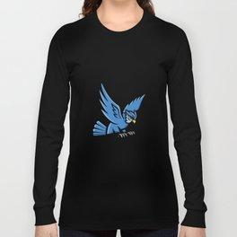 Horned Owl Swooping Mascot Long Sleeve T-shirt