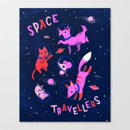 Space Travellers Canvas Print