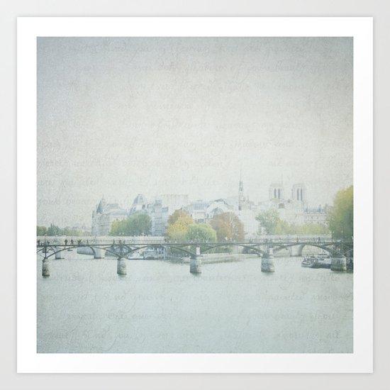 Letters From La Cité - Paris Art Print
