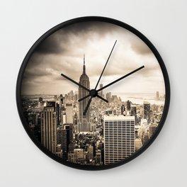 Stormy Manhattan Wall Clock