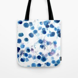 Climbing in Blue Tote Bag