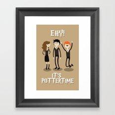 It's Pottertime! Framed Art Print