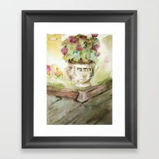 Flowers In the Garden Framed Art Print