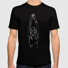 minimal drawing  Mens Fitted Tee MEDIUM Black