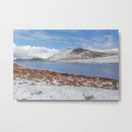 Moorland Snow Metal Print