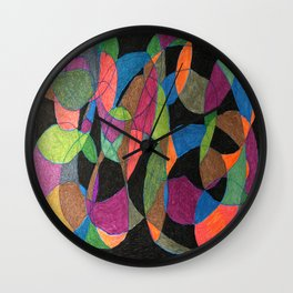 Intertwining Circles Wall Clock