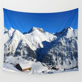 Winter Panorama in Austria Wall Tapestry