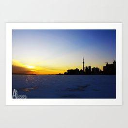 Toronto's Sunset Art Print