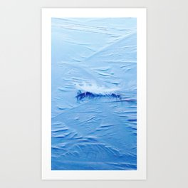 White feather on ice Art Print